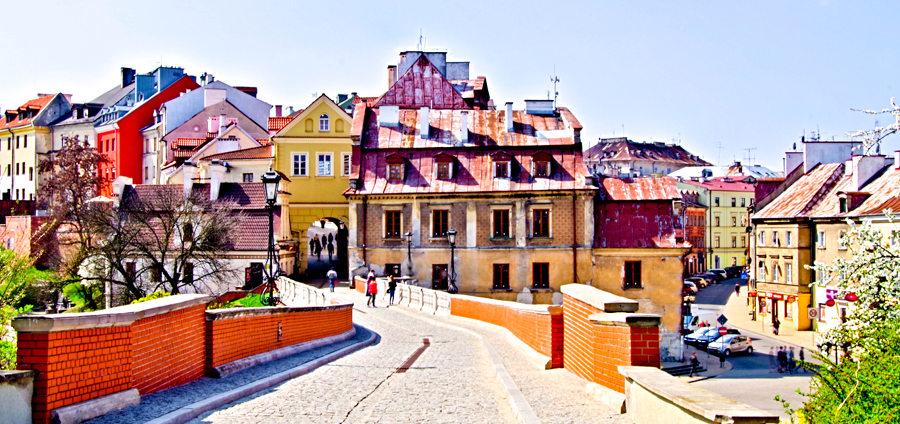 Atrakcje turystyczne Lublina - zdjęcie Starego Miasta od Zamku Lubelskiego